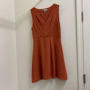 Forever21 Copper Knee Length Dress Size M